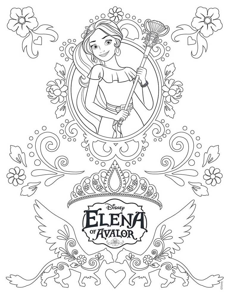 Dibujos Colorear Elena De Avalor