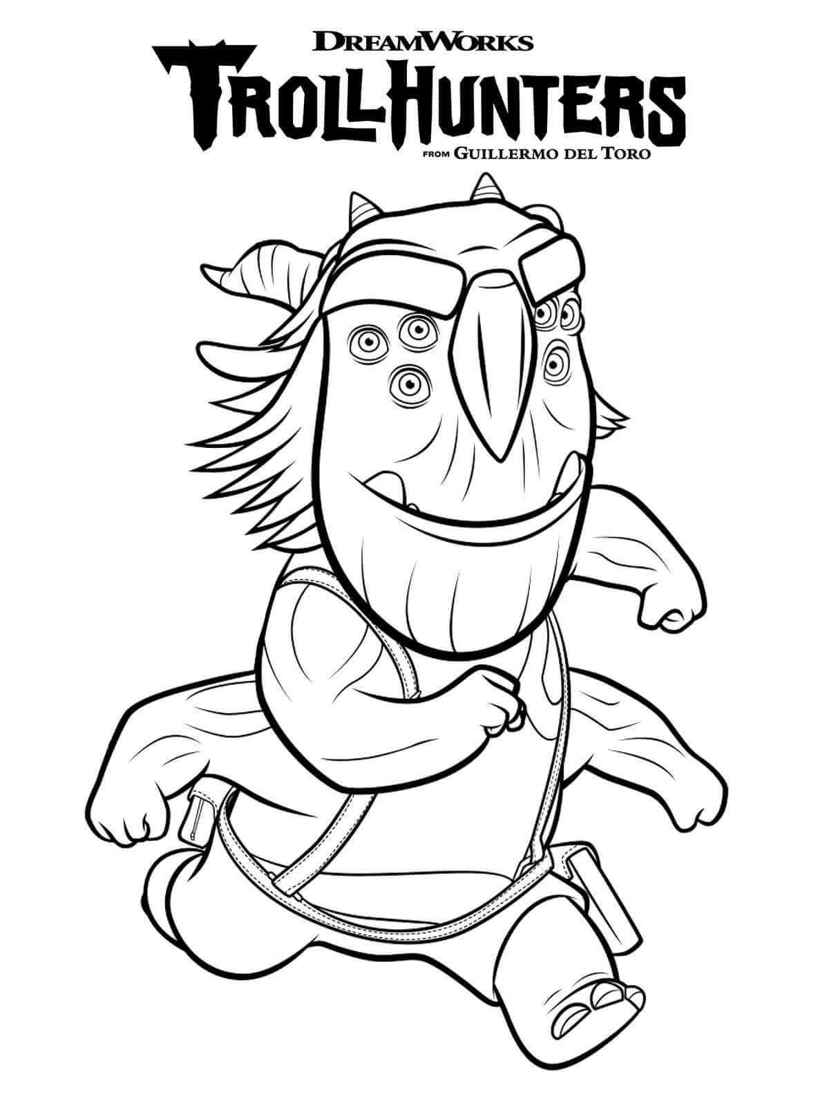 Blinky Cazadores De Trolls O Trollhunters Dibujos Colorear