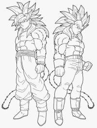 Imagenes De Goku Fase 4 Para Colorear Imgenes De Goku Y Sus