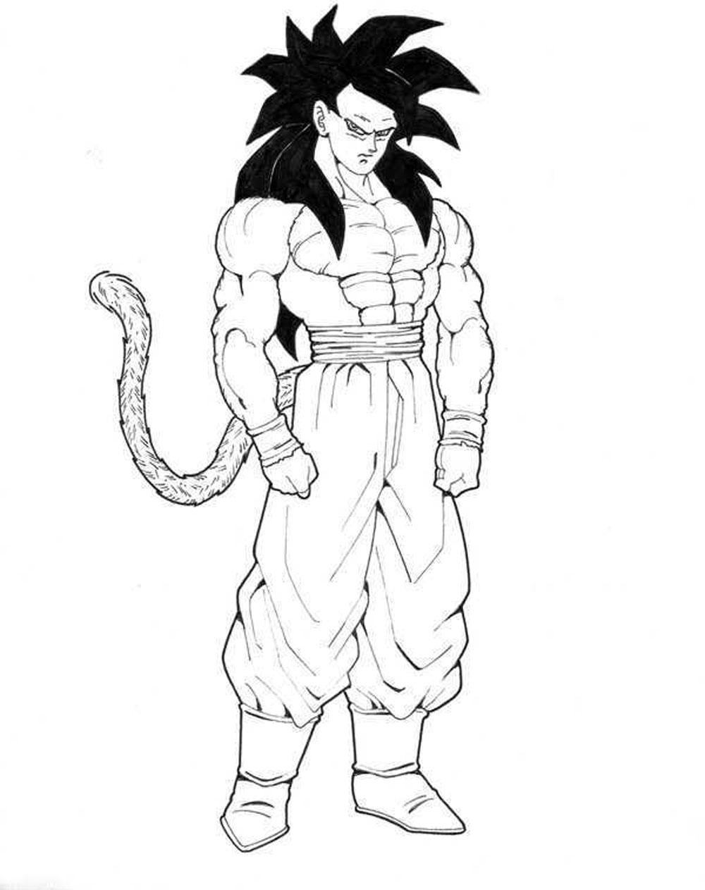Image Of Imagenes Para Colorear Goku Fase 5 Goku Fase 5 Para