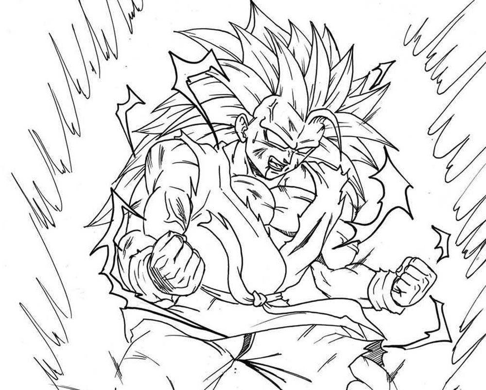 Son Goku Fase 3 A Fase 4 Para Iluminar Y Colorear