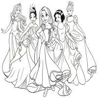 Dibujos Para Colorear De Princesas Medievales