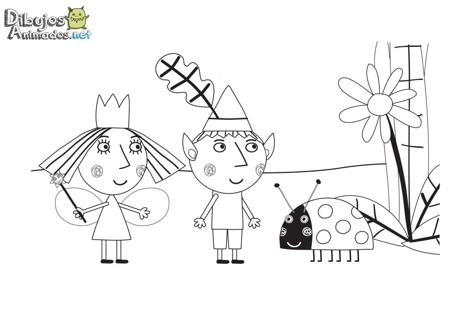 Dibujos Para Colorear Del Pequeo Reino De Ben Y Holly