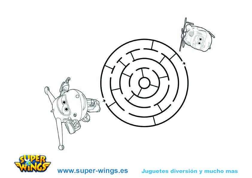 Actividades Super Wings: Jett y Dizzy – Laberinto