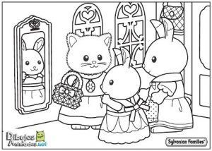 Dibujos para colorear animales Sylvanian Families
