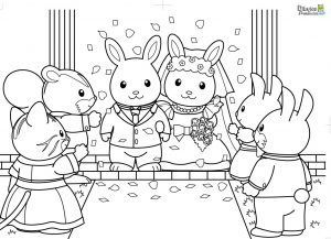 colorear-boda-animales