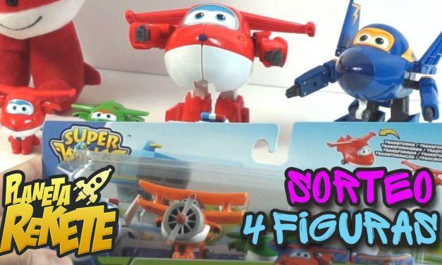 Sorteo Super Wings: Pack de 4 figuras: Jett, Mira, Paul y Gran Albert