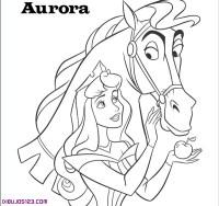 Aurora para colorear