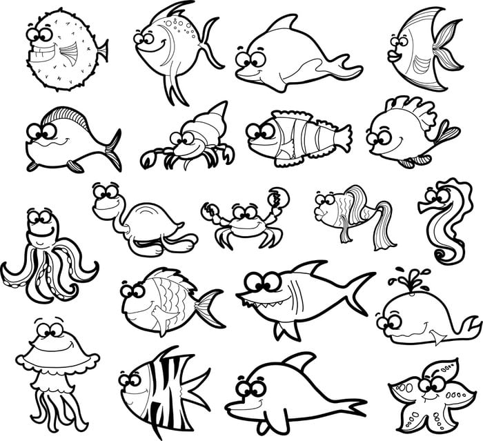 ▷▷ MUNDO MARINO: Dibujos marinos fáciles en www.dibujosfaciles.es