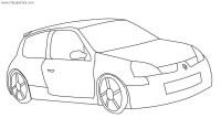 Dibujo de auto Renault Clio para colorear | Dibujos de ...