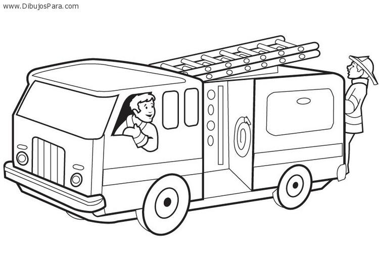 Dibujo de Camion de Bomberos