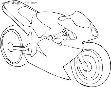 Dibujo de Moto de Carreras