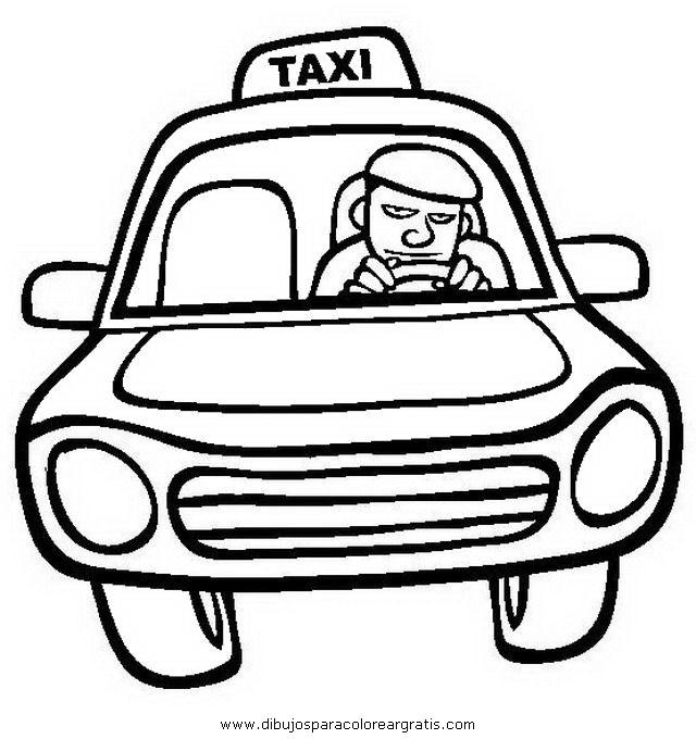 Dibujos Para Colorear De Choferes Dibujo Chofer Taxi En La