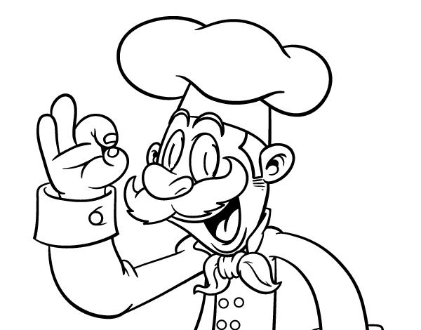 Gorros De Chef Caricatura A Color