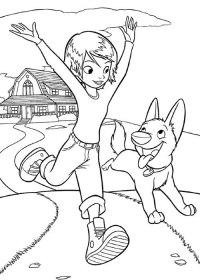 Dibujo para Colorear Bolt y Su Compaera