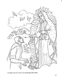 Dibujos Para Colorear Virgen De Guadalupe Imagenes Gratis La