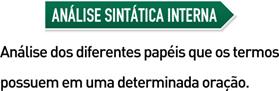Análise Sintática Interna