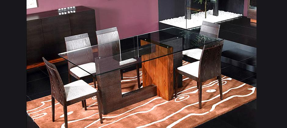 sala jantar wengue mesa vidro