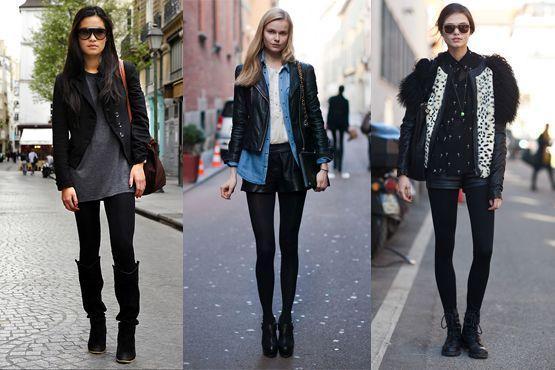 meia preta8 Meia calça preta é peça chave para os dias frios