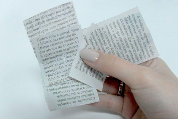 2 provador unhas jornal Aprenda a fazer as unhas de jornal