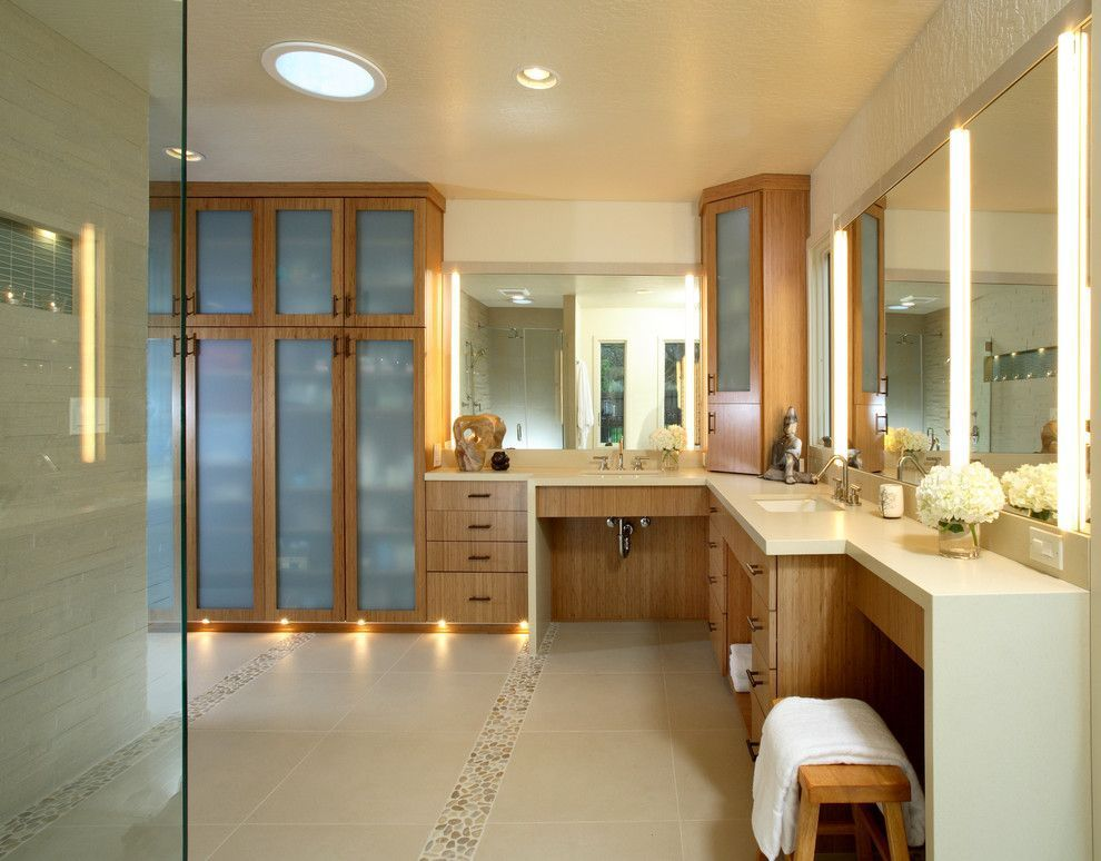 Closet com banheiro 50 inspiraes para adotar essa integrao