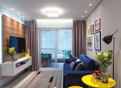 sofas modernos para salas pequenas leon s canada sofa table pequenas: 70 inspirações muito estilosas a sua ...