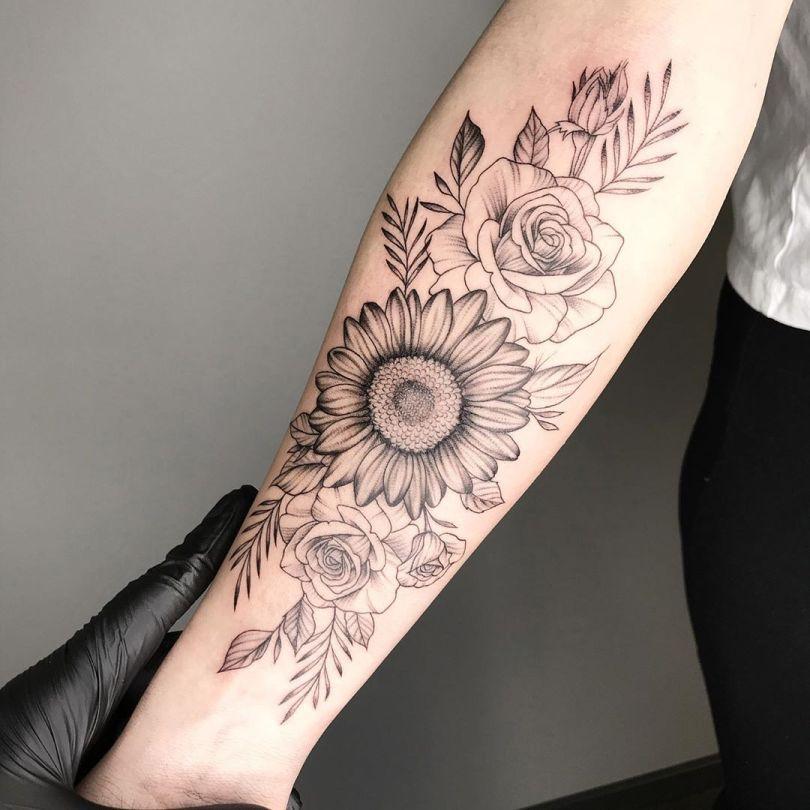 Tatuagem de flor no braço: 100 opções perfeitas para você se inspirar