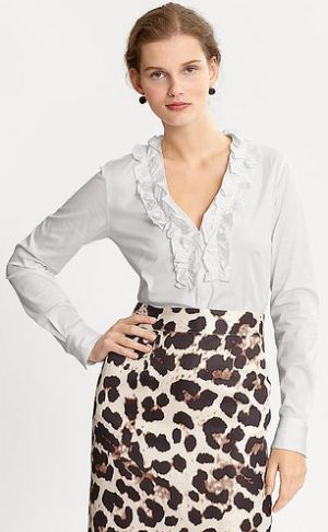 Camisas Femininas com Babado 6 Moda de Camisas Femininas com Babado