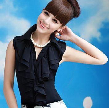 Camisas Femininas com Babado 7 Moda de Camisas Femininas com Babado
