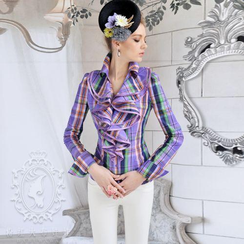 Moda de Camisas Femininas com Babado 8 Moda de Camisas Femininas com Babado