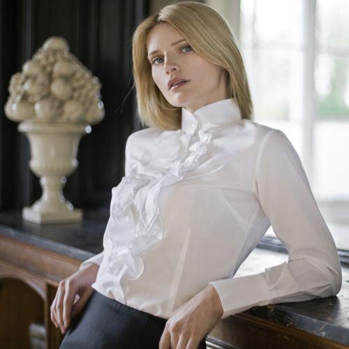 Tendência de Moda de Camisas Femininas com Babado 8 Moda de Camisas Femininas com Babado