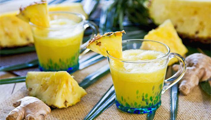 gengibre e abacaxi