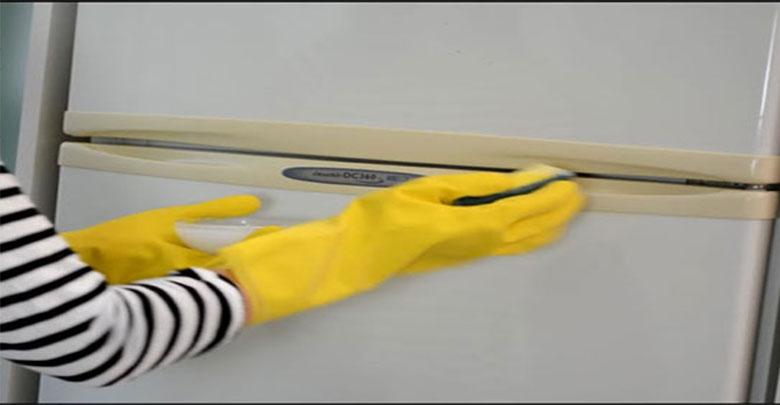 eletrodoméstico amarelado