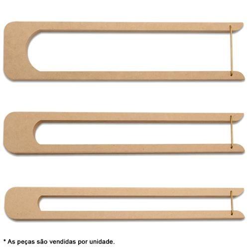 modelo tear para crochê de grampo metal curvado