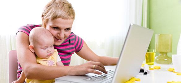 Mãe Trabalhando em Casa (Foto: Reprodução)