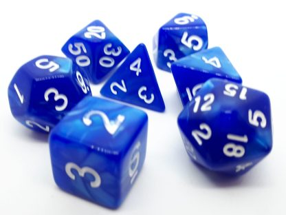 RPG Wuerfel Set Pearl Blue/White