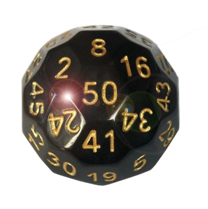 RPG Wuerfel Set dice-up,. D50 Schwarz / Gold