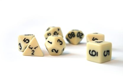 RPG Wuerfel Set Ivory/Black