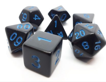RPG Wuerfel Set Opaque Black+Blue
