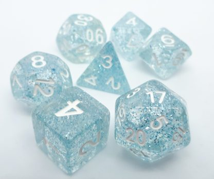 RPG Wuerfel Set Confetti Blue
