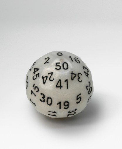 RPG Wuerfel Set Dice Up D50 Perlmutt/Schwarz