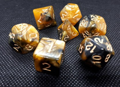 RPG Wuerfel Set Racing Amber/Black
