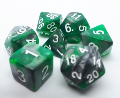RPG Wuerfel Set Emerald Ore
