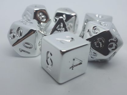 RPG Wuerfel Set Plated Silver
