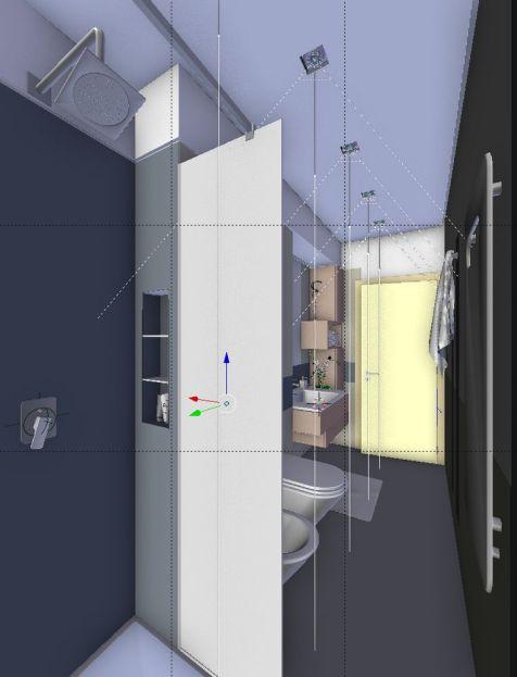 Bathroom shower - wireframe