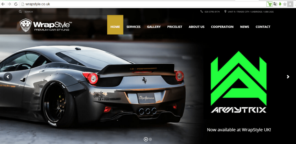 Dịch thuật website ngành car detailing cho WrapStyle (UK)