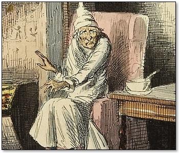 Scrooge Sees Marley's Ghost