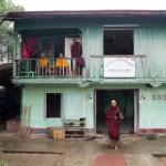 Sam (Sundara), center, became a monk at age 30.