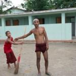Monks run schools for children in local communities.