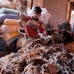 Sorting Sheep Skin Fragments, Souk, Aleppo